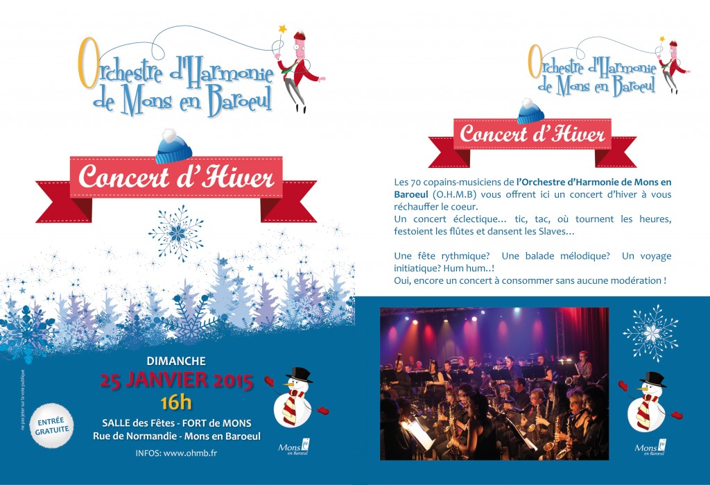 OHMB Concert janvier 2015 - flyer